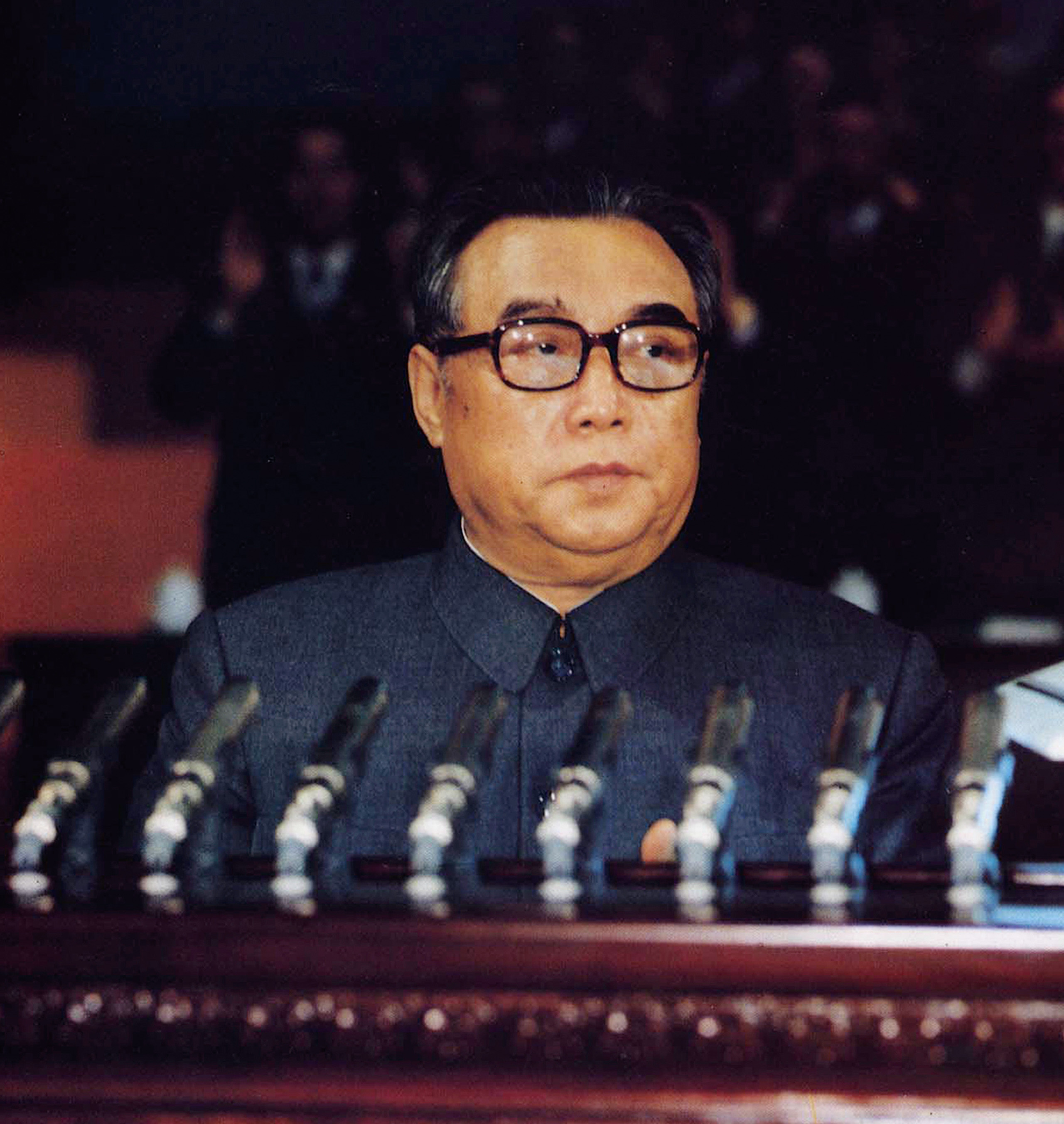 In this Oct. 10, 1980 photo provided by the Korea News Service (KNS), then North Korean leader Kim Il Sung addresses a convention of North Korea's Workers' Party in Pyongyang, North Korea. North Korea, the world's last great master of socialist spectacle, is likely to deliver a big one when its ruling party holds its first congress in 36 years later this week, scheduled to begin on Friday, May 6, 2016. (Korea News Service via AP)